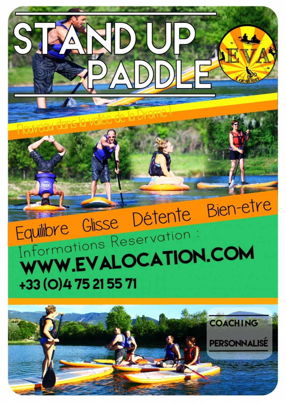 affiche paddle